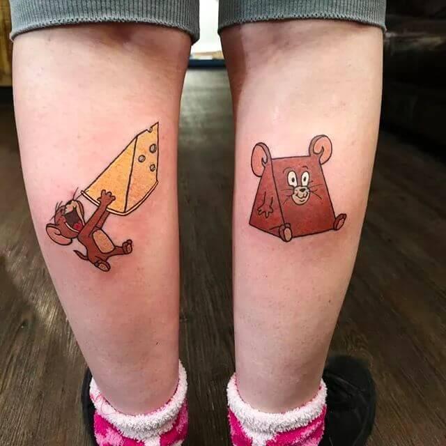 Tom and Jerry tattoo
